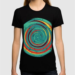 colorful abstract circle geometric illustration T-shirt