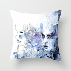 waves - to and fro Throw Pillow