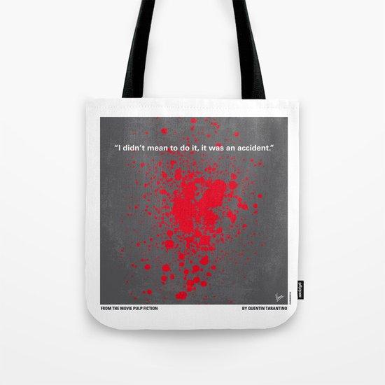 No067 My Pulp Fiction minimal movie poster Tote Bag