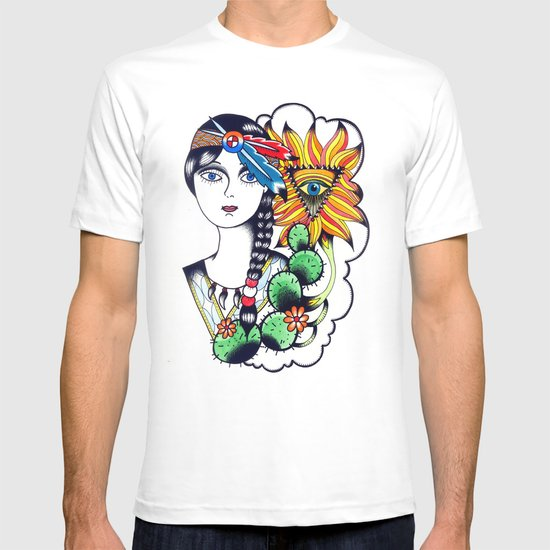 Cactus Eye Tattoo Style T-shirt