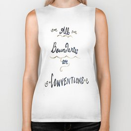 All Boundaries are Conventions Biker Tank