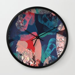 Marbled Abstract Wall Clock