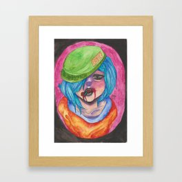 Amost a Human Being Framed Art Print