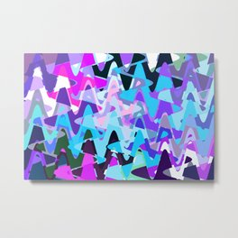 Electric waves, technological abstraction in rich colors, music waves in violet Metal Print