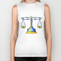 scales Biker Tanks featuring Scales Knot by Knot Your World