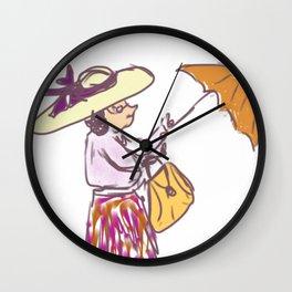 Grandma in the Rain Wall Clock