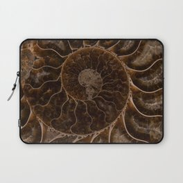 Brown Ammonite Laptop Sleeve