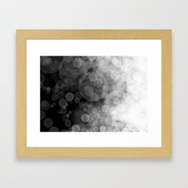 Black and White Spotted3 Framed Art Print