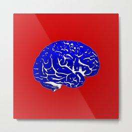 Brain of a Superhero - Capt. America Metal Print
