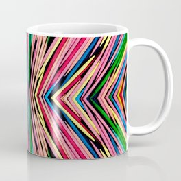 Toothpick Fusion Abstract Pattern Coffee Mug