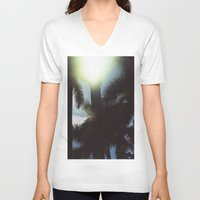 palm trees V-neck T-shirts featuring Palm Trees by IanPlath