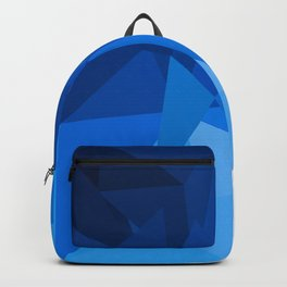 Triangles in different shades of light blue Backpack