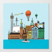 stockholm Canvas Prints featuring Stockholm by Adam Lindfors