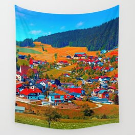 A villages sees red Wall Tapestry