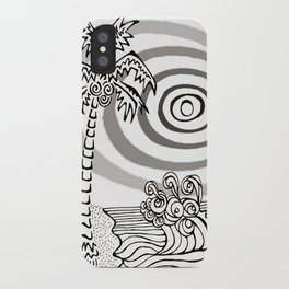 Palms and Waves iPhone Case
