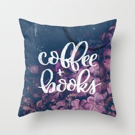 Coffee + Books Throw Pillow