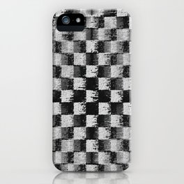 Edgy Checker (in shades of grey) iPhone Case
