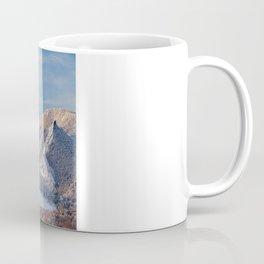 Winter Snow on Flatirons in Boulder Colorado Coffee Mug