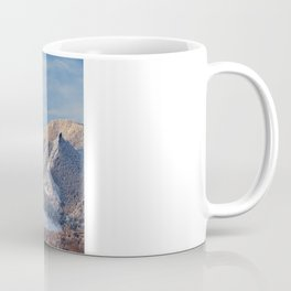 Winter Snow on Flatirons in Boulder Colorado Coffee Mug