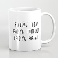 reading Mugs featuring Reading by IA Apparel