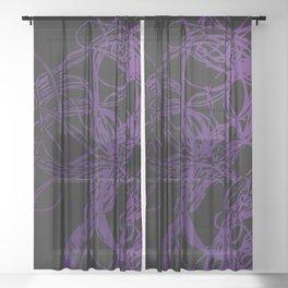dark purple Sheer Curtain