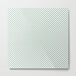 Grayed Jade Polka Dots Metal Print