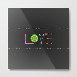 Arrow Love Metal Print