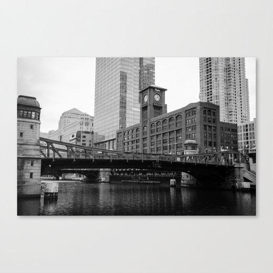 Chicago Riverwalk - Clark Street Bridge / Merchandise Mart Canvas Print