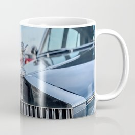 Vintage Car // Rolls Blue Paint Hood Ornament Silver Grille Classic Coffee Mug
