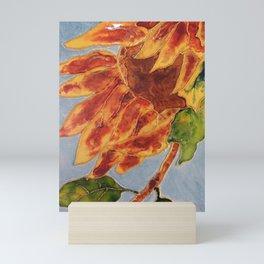 Turns to the wind sunflower   Tourne-au-vent Mini Art Print