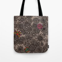 flower pattern Tote Bags featuring Flower Pattern by Aubree Eisenwinter