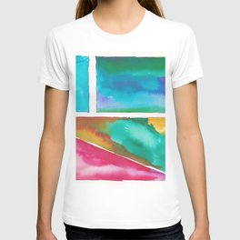 180811 Watercolor Block Swatches 11| Colorful Abstract |Geometrical Art T-shirt