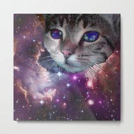 SpaceCat Metal Print