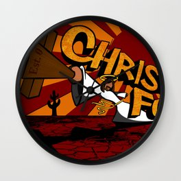 Christ Fu - Love Thy Unconscious Enemy Wall Clock