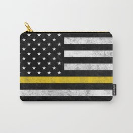 Thin Gold Line Flag Carry-All Pouch