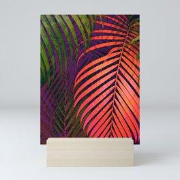 COLORFUL TROPICAL LEAVES no1 Mini Art Print