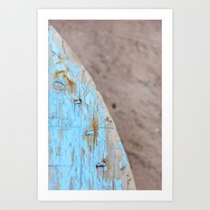 Turquoise Beach Wood I Art Print