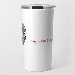 Abstract Heart Travel Mug
