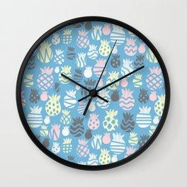 It's raining pineapples Wall Clock