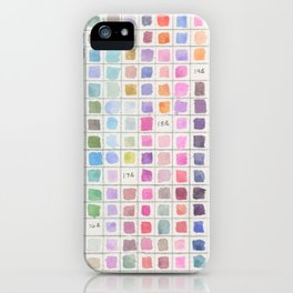 Cool Colored Watercolor Swatches iPhone Case