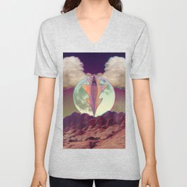 A Vulnerable Moon on a Superficial Night Unisex V-Neck