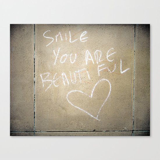 Smile, You Are Beautiful! Canvas Print