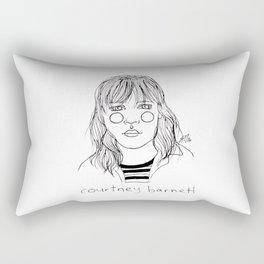 Courtney Barnett Rectangular Pillow