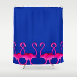 Flamingo dance_ bubblegum Shower Curtain