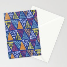 Doodle Geometric Triangles Stationery Cards