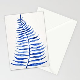 Navy Palm Leaf Stationery Cards