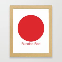 Russian Red Framed Art Print
