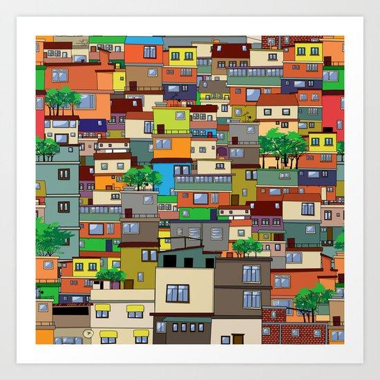 Favela, Rio de Janeiro Art Print