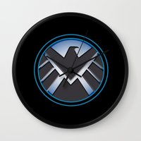 shield Wall Clocks featuring Shield by livinginamovie