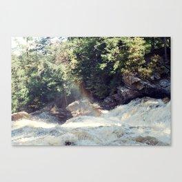 a rainbow at the falls Canvas Print